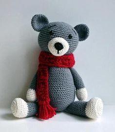 Hæklet bamse Crochet Teddy, Crochet Bear, Cute Crochet, Crochet For Kids, Crochet Animals, Crochet Dolls, Rabbit Crafts, Crochet Amigurumi Free Patterns, Stuffed Animal Patterns