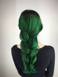 Makeover  DIY Blah To Emerald Green - Career - Modern Salon Dark Green Hair 23ab0ea9868