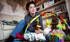 'I am bruised with fatigue' … Lucy Jones with her baby, Evelyn