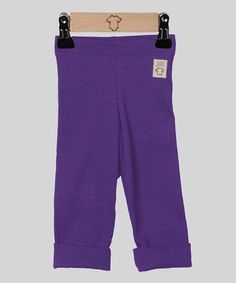 Take a look at this Purple Fold-Over Leggings by Those Baby Basics on #zulily today!