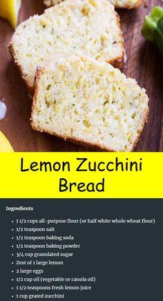 Healthy Zucchini Bread, Zucchini Cookies, Bread Ingredients, Good Food, Yummy Food, Vegetarian Cake, Pasta Food, My Best Recipe, Keto Bread