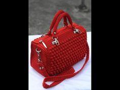 DIY Tutorial Easy Crochet Savvy Handbag Purse Tote - Croche Bolsa Bag - YouTube
