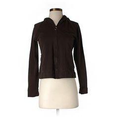 Pre-owned Ann Taylor LOFT Zip Up Hoodie ($14) ❤ liked on Polyvore featuring tops, hoodies, brown, zip up hooded sweatshirt, sweatshirt hoodies, brown hoodies, loft tops and brown hooded sweatshirt