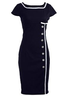 ReliBeauty Nautical Pinup Rockabilly Vintage Retro Pencil Women's Dress Navy Black (S, Navy Black) ReliBeauty http://www.amazon.com/dp/B00JIUSU4Q/ref=cm_sw_r_pi_dp_8I.Xtb1TJ6E4Y3G4