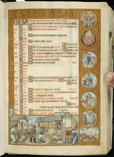 Breviary of Eleanor of Portugal.  MS M.52 fol. 7r, Whole Page (8 of 11 ms pages found) Jump to folio