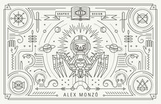 Personal Business Cards by Alex Monzó, via Behance