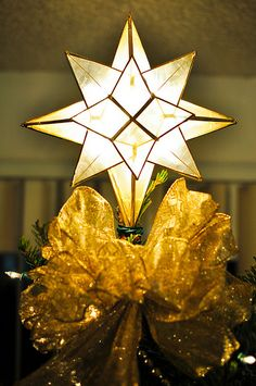 capiz star tree topper christmas