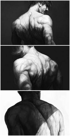 Back again by coupleofkooks on DeviantArt Anatomy Sketches, Anatomy Drawing, Anatomy Art, Art Sketches, Anatomy Reference, Art Reference Poses, Body Drawing, Figure Drawing, Dark Fantasy