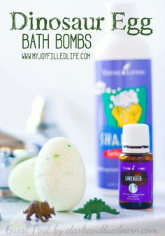 Dinosaur Egg Bath Bombs! Fun sensory and science for kids