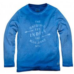 Indian Blue Jeans - Longsleeve Indian blauw
