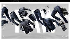 G-Star New Denim Arrivals by Cartelle & G-Star RAW. July 31, 2014. #webdesign #inspiration #UI #SOTD