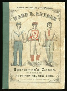 1875 Ward B. Snyder Sporting Goods Catalog with Color Plates
