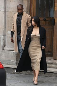 If You Can't Wait to See Kim's Wedding Dress, You Have Kanye to Thank: Anyone who had an eye on Kim Kardashian's style evolution over the past year knows that it had more than a little to do with her growing baby bump.
