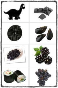 """Jeu d'association """"Pop mange de touts les couleurs"""" (noir)"""