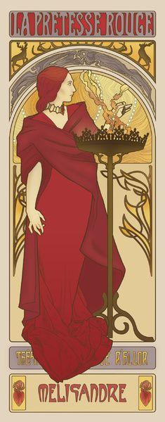The Red Priestess Art Print by ElinJ | Society6 http://society6.com/product/The-Red-Priestess-BQK_Print#1=45
