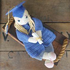 CROCHET PATTERN Graduate Grace Ragdoll Crochet Dolls, Crochet Baby, Baby Farm Animals, Lovey Blanket, Single Crochet Stitch, Yarn Over, Crochet Basics, My Face Book, Half Double Crochet