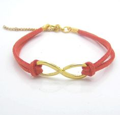Peach Infinity Bracelet