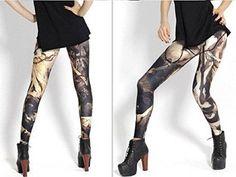 Women Sexy Revolution GLASS OWL Jellyfish Rainbow Call of Leggings