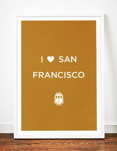 San Francisco print art poster Love by WeaversofSouthsea on Etsy, $19.00