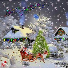 May your day be blessed with love, happiness and good health. Take care. Love and Light ˡᵒᵛᵉ ♡ ☯ ♡ ☯ ∞ Feliz días, queridas almas. Merry Christmas Gif, Christmas Scenes, Christmas Villages, Christmas Love, Christmas Wishes, Christmas Photos, Christmas Greetings, Beautiful Christmas, Winter Christmas