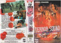 """TERROR SQUAD - UNA EXCURSION AL TERROR"" (""MANSON INTERNATIONAL (MCEG)"", 1987), ""PAL VHS"", ""CBS/FOX Video"" (""Spanje/España/Ισπανία Espanja, EU/ΕΕ/UE)""   ""vuurwapen"", ""tuliaseet"", ""πυροβόλο όπλο"", ""veret"", ""imaamit"", ""imaami"", ""poliisit"", ""Brexit europe eu"