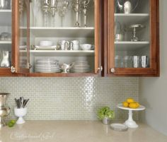 kitchen back splash - mini subway tile?