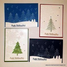 Karten vom Weihnachtskarten-Workshop   http://eris-kreativwerkstatt.blogspot.de/2015/12/bilder-vom-weihnachtskarten-workshop.html  #stampinup #weihnachtskarte #weihnachten #xmas #christmas #karte #teamstampingart