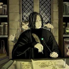 I imagine how Harry gets in trouble after that XD /// It's beautiful art.