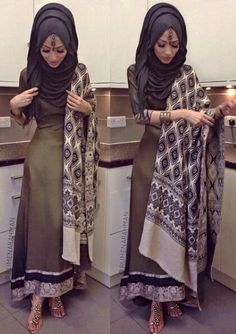 Pinned via Nuriyah O. Martinez | Desi Hijab... Shes a bit thin.. But the suit looks fabulous on her...