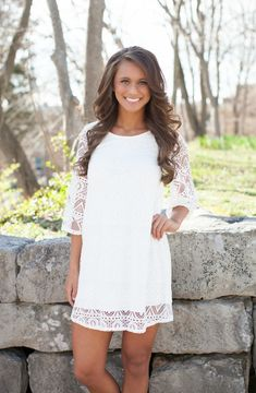 The Pink Lily Boutique - State of Grace White Dress, $39.00 (http://thepinklilyboutique.com/state-of-grace-white-dress/)