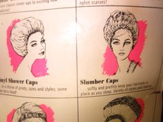 "Vintage Faberge TIP TOP 25"" SUPER BOUFFANT SHOWER CAP KITSCHY BEAUTY"