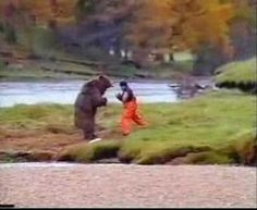 """John West Salmon """"Bear Fight"""" Ad - one of my dads all time favorite commercials"""