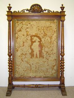 french fire screen | Antique French Renaissance Style Carved Walnut Fire Screen With ...