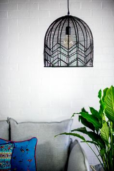 Wire Pendant Light, Rattan Bar Stools, Asian Home Decor, Ceiling Canopy, Electrical Wiring, Shape Design, Zig Zag, Delicate, Bulb