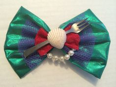 If someone got me this You would have my love forever Ariel ~ The Little Mermaid Inspired Bow for Customized Ears - Glow in the Dark Deco Disney, Disney Diy, Disney Crafts, Little Mermaid Parties, Ariel The Little Mermaid, Disney Hair Bows, 3d Prints, Mickey Ears, Cute Bows