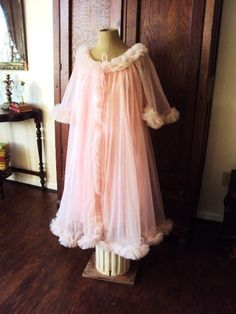 Vintage 1950s Babydoll Nightgown Lingerie by primitivepincushion, $62.99