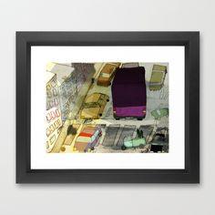 city traffic Framed Art Print by jei delete - $39.00