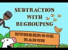 Subtraction With Regrouping Song & Music Video For Elementary School Students - Great math activity to add to your math centers | RELATED LESSONS AND ACTIVITIES AT FOLLOWING LINK: https://www.teacherspayteachers.com/Product/Subtraction-With-Regrouping-Anchor-Chart-Worksheets-Word-Problems-HD-VIDEO-2264691