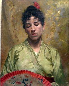 The Green Kimono - Giacomo Grosso