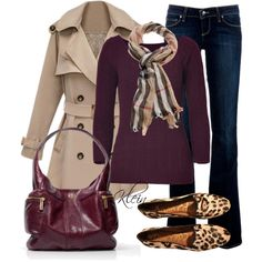 Fall Outfit: Shades of wine, created by stacy-klein on Polyvore