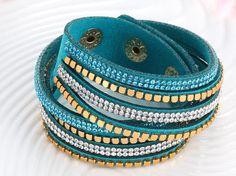2016 Fashion Faux Leather Bracelet Brand New 6 Colors Crystal Women And Men Bracelets Vintage Statement Cuff pulsera Accessories Item specifics Bracelets Type: Chain & Link Bracelets Gender: Women Cla