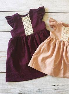 Handmade Plum Linen Holiday Dress | ThePathLessRaveled on Etsy
