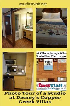 Disney Vacation Club (DVC): Photo Tour of a Studio at Disney's Copper Creek Villas from yourfirstvisit.net #DVC #DisneyVacationClub #CopperCreekVillas