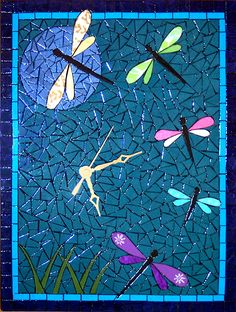 Time Dragonfly's when you have this mosaic clock! ;op