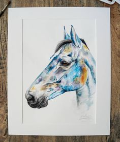 """Contemporary watercolour commission with real dried flowers 🌼🌷🌼 Here's a little insight into Lucy Dolmans boy """"I cant stop looking at the painting, he just looks so real you really see his personality coming through, Just his calm nature it's crazy.  Robbie really was a Small Horse but with the biggest heart. He was the most gentle Handsome boy, we always said if he had been a Human he would of been a true ladies man.  He was a true Show man who new his job inside out in the show ring and… Ladies Man, Chloe Brown, Contemporary Artwork, Handsome Boys, Pet Portraits, Dried Flowers, Watercolour, Original Artwork, Insight"""