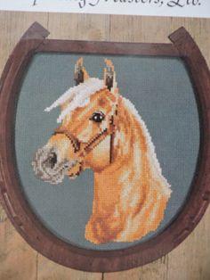 SeeSallySew.com - Golden Palomino Horse Head Cameo Sporting Masters, Ltd Cross Stitch Pattern No. 4  , $9.00 (http://stores.seesallysew.com/golden-palomino-horse-head-cameo-sporting-masters-ltd-cross-stitch-pattern-no-4/)