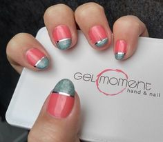 In love with these nails!  GelMoment gel polish is awesome!