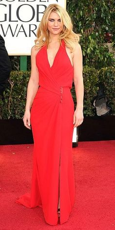 Love the simple pleats of Claire Danes' Versace dress!
