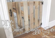 Tutorial COMING SOON! My husband made this for me to keep the dogs out of the kitchen. We were constantly tripping over the step over gate we previously used and…