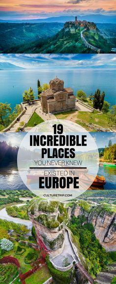 19 Incredible Places You Never Knew Existed in Europe 19 unglaubliche Orte, von denen Sie nie wussten, dass sie in Europa existierten Europe Destinations, Europe Travel Tips, European Travel, Travel Guides, Europe Places, Holiday Destinations, Travel Goals, Backpacking Europe, Budget Travel